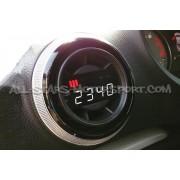 Reloj digital P3 Gauges para rejilla de ventilacion de Audi S3 8V