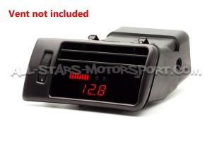 Reloj digital P3 Gauges para rejilla de ventilacion de Audi RS6 C5