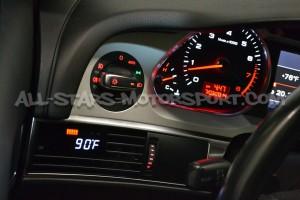 Reloj digital P3 Gauges para rejilla de ventilacion de Audi RS6 C6