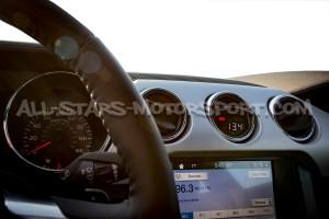 Reloj digital P3 Gauges para rejilla de ventilacion de Ford Mustang Ecoboost