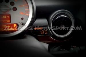 Reloj digital P3 Gauges para rejilla de ventilacion de Cooper S R55 / R56 / R57