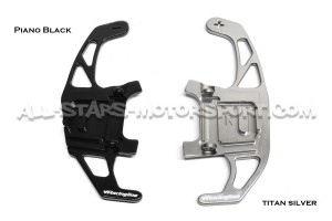 Silver Aluminium VW Racing paddle shifter extensions for Golf 7 GTI / R / GTD