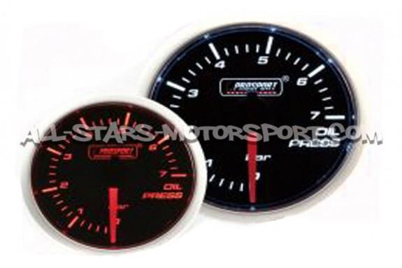Manometre de pression d'huile Prosport 52mm