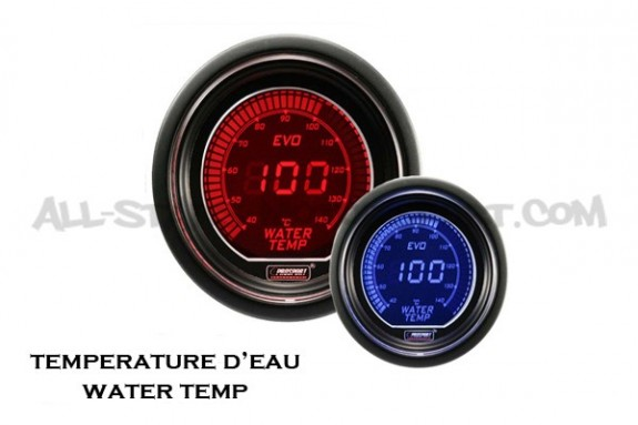 Manometre de temperature d'eau Prosport Evo