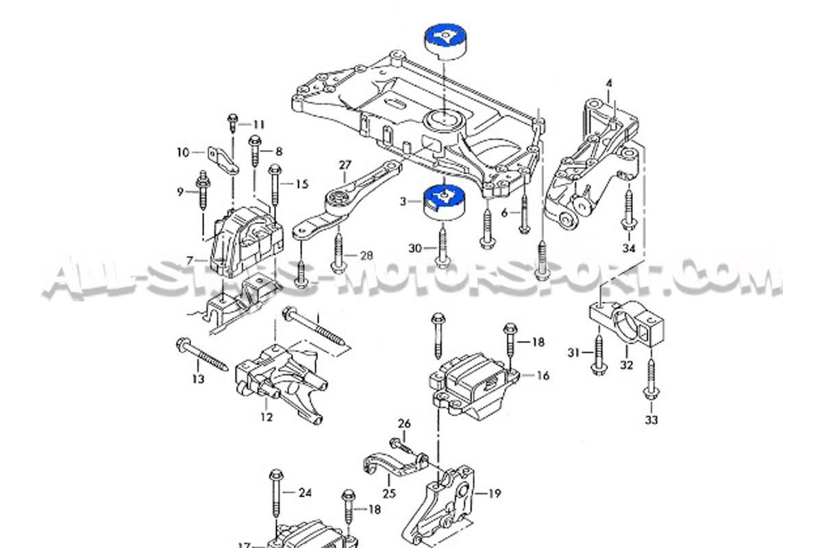 Vw Engine Mount Diagram Schematics Wiring Diagrams Well Tec E116997 Racing Subframe For Scirocco Golf 5 6 Le Rh All Stars Motorsport