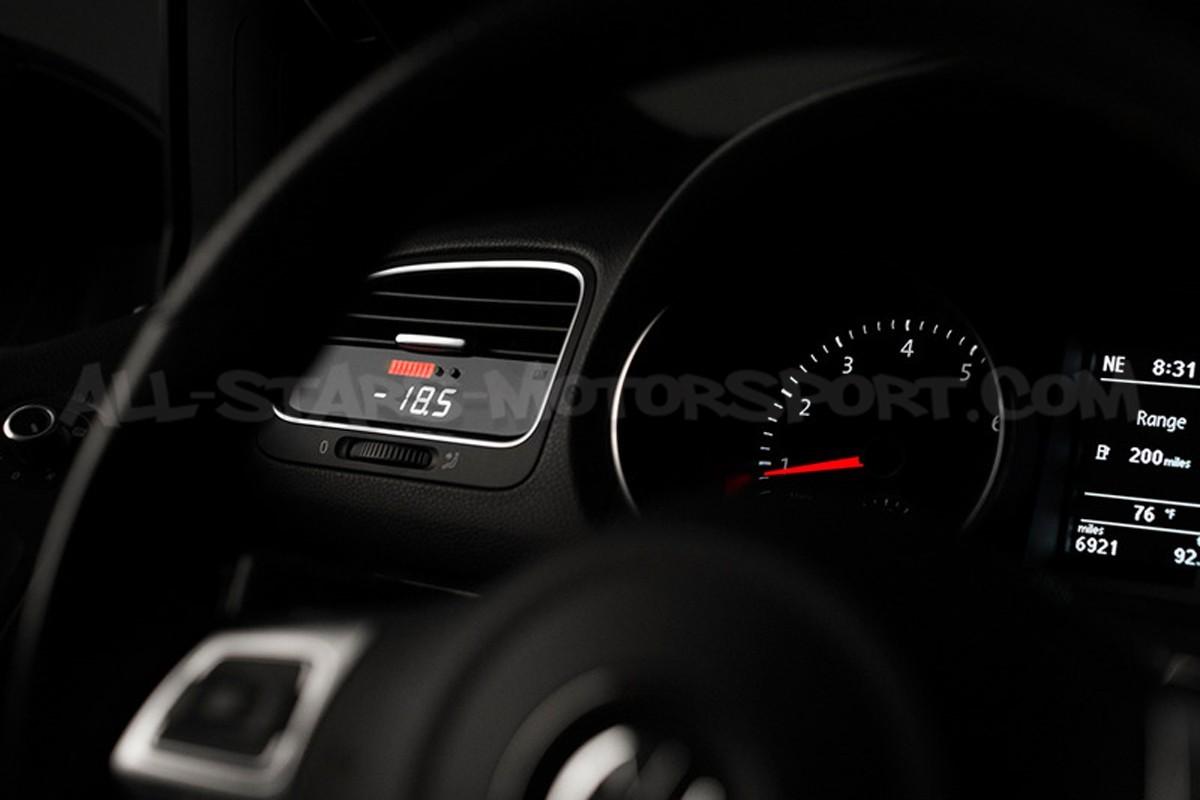 Reloj digital P3 Gauges para rejilla de ventilacion de Golf 6 GTI / Golf 6 R