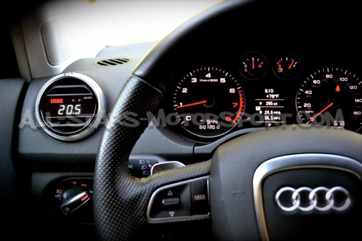 Reloj digital P3 Gauges para rejilla de ventilacion de Audi A3 8P / S3 8P