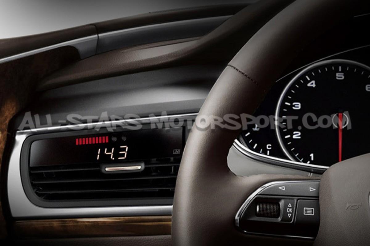 Reloj digital P3 Gauges para rejilla de ventilacion de Audi RS6 / RS7 C7