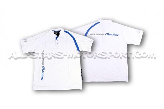 Polo Racingline Blanc / Bleu