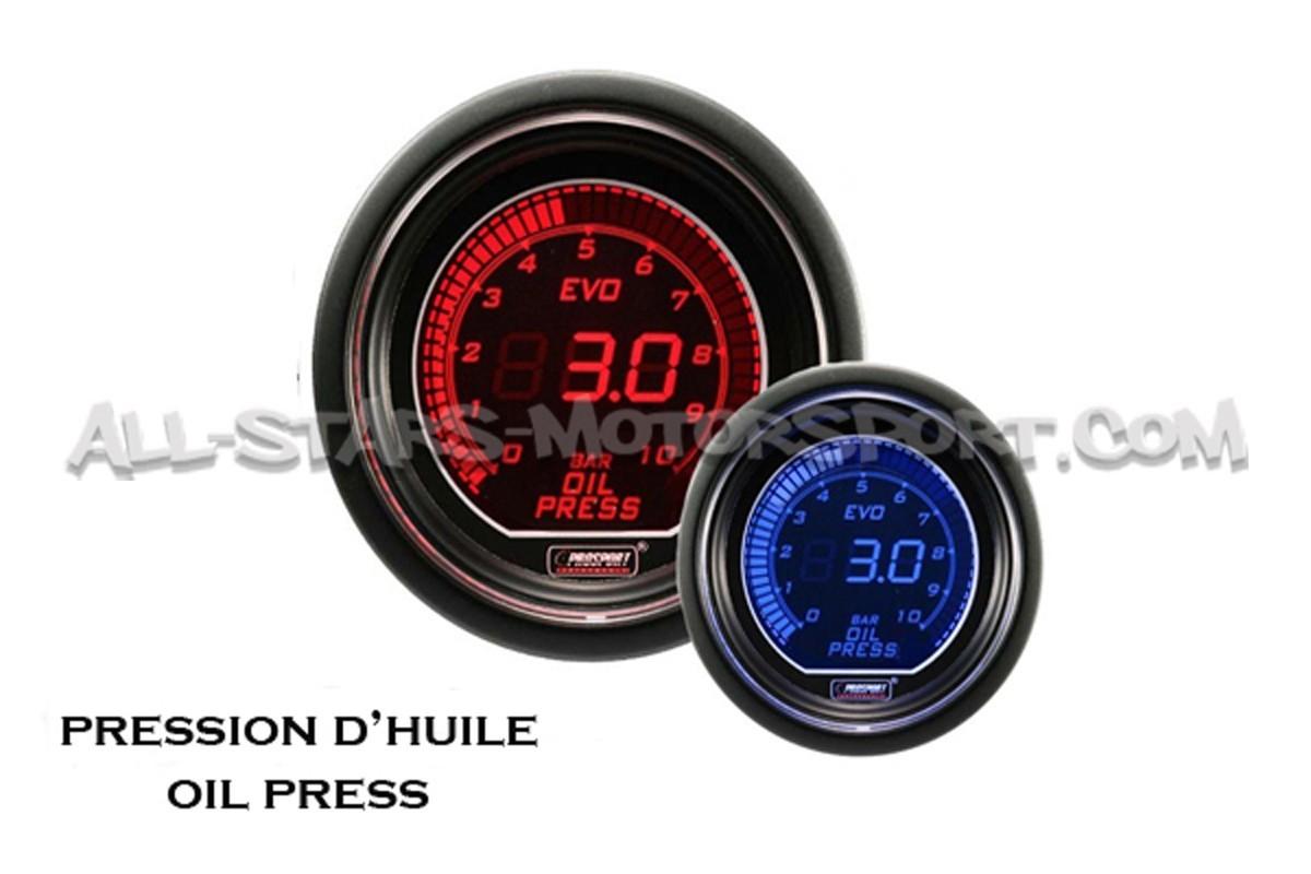 Reloj de presión de Aceite Prosport Evo Rojo / Azul
