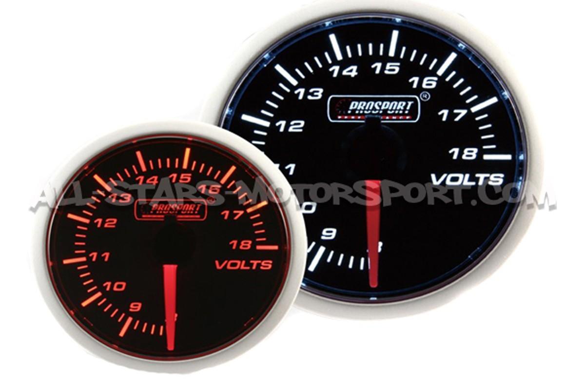 Reloj Prosport 52mm voltímetro