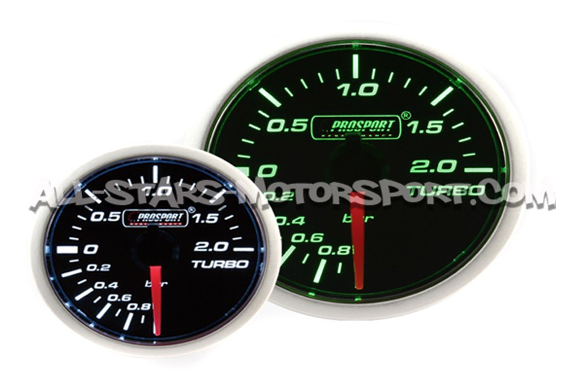 Prosport 52mm electronic boost gauge green / white