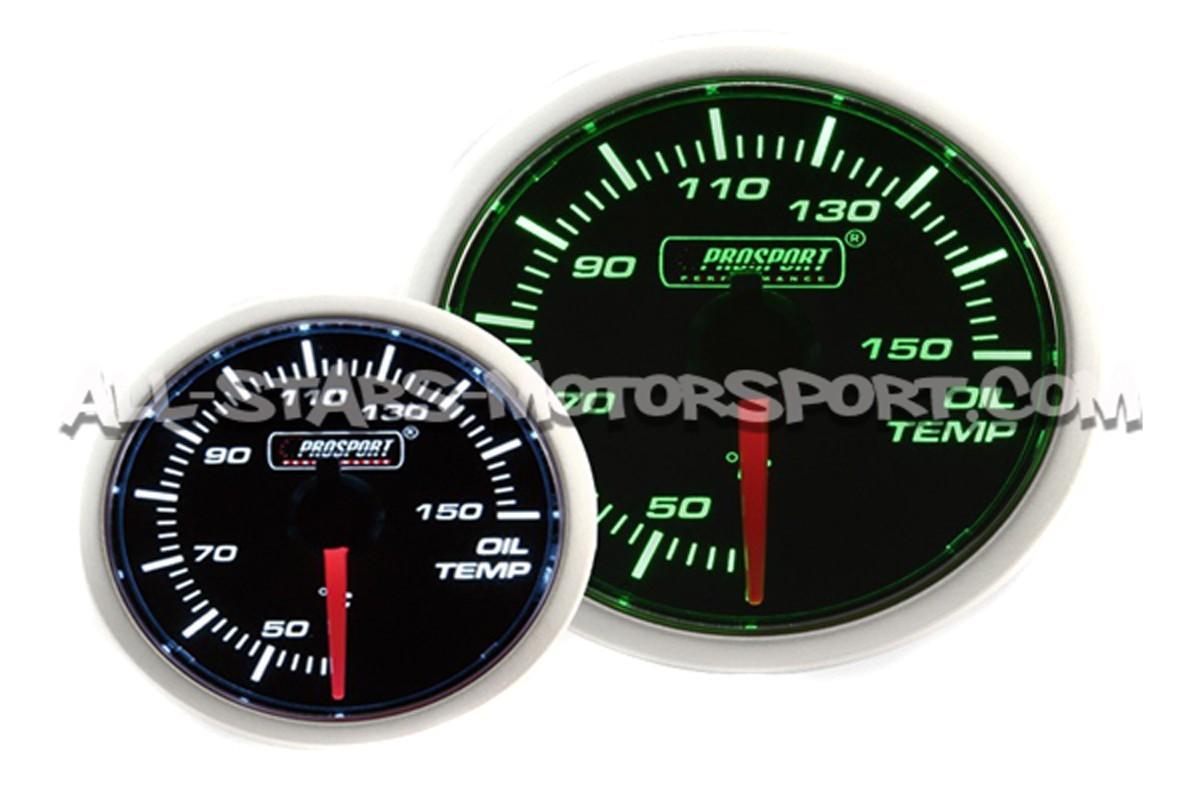 Reloj Prosport 52mm de temperatura de aceite