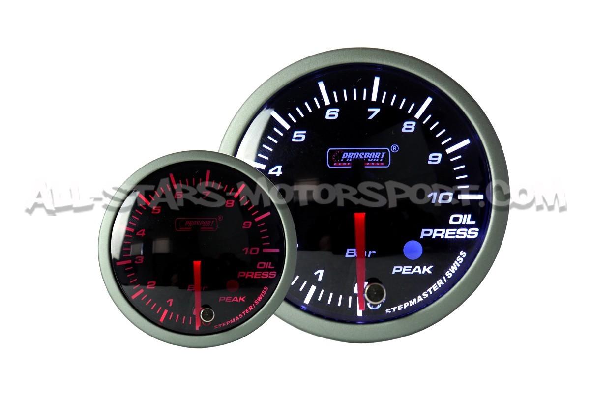 Reloj de presión de aceite Prosport Premium 60mm