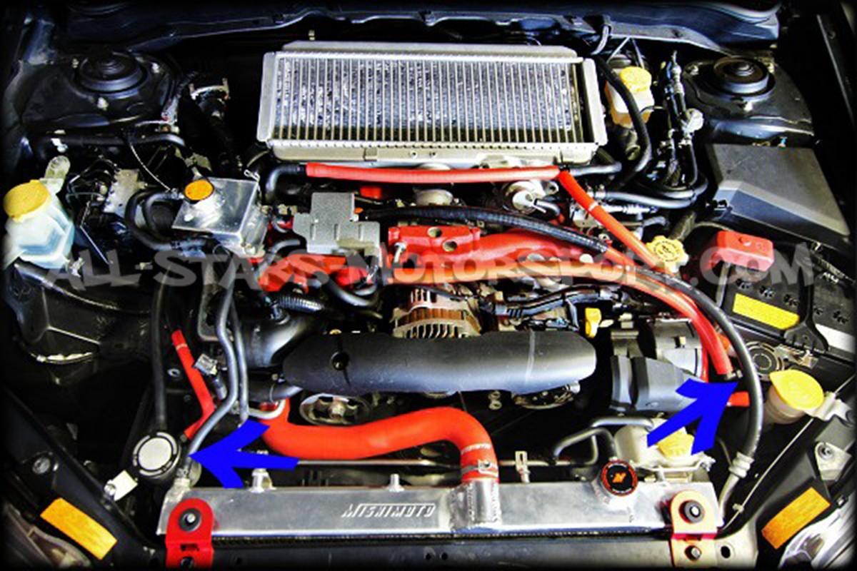 Subaru Impreza Sti 08 14 Mishimoto Baffled Oil Catch Can
