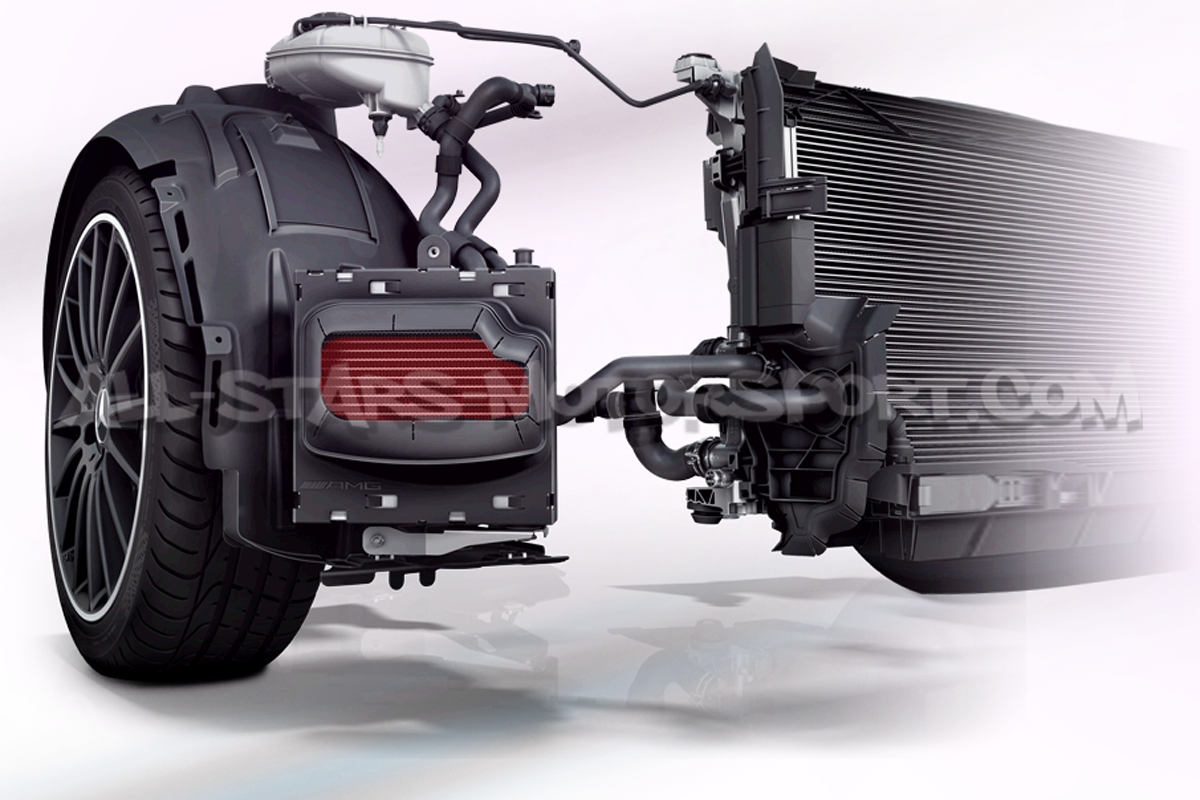 Wagner Tuning Side Mounted Water Charge Cooler For A45