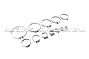 Stainless steel clamps for hoses from 8 to 100mm