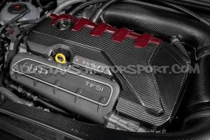 Audi RS3 8V Facelift / TTRS 8S Eventuri Carbon Fiber / Red Kevlar Engine Cover