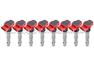Bobinas de encendido rojas NGK para Audi RS4 B7