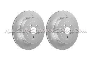 Discos de freno traseros ranurados Dixcel SD para Subaru Impreza STI 01-05