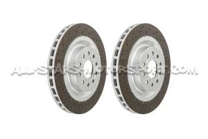 Discos de freno delanteros perforados Dixcel FP para Honda Civic Type R FK2 / FK8