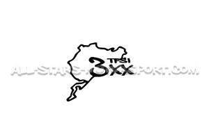 Sticker Autocollant TFSI 3xx rouge, blanc ou noir
